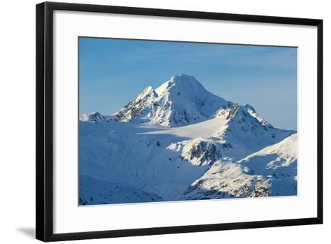 A Scenic View of Jagged, Snow-Covered Peaks in the Chilkat Range-Bob Smith-Framed Art Print