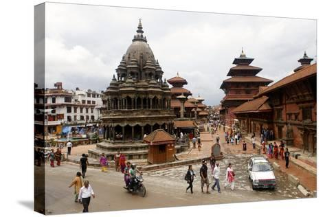 View of Patan's Durbar Square-Jill Schneider-Stretched Canvas Print