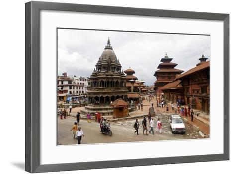 View of Patan's Durbar Square-Jill Schneider-Framed Art Print