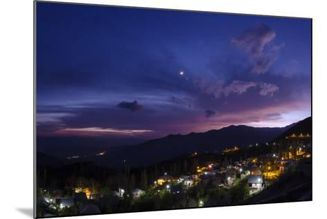 The Crescent Moon and Venus in Conjunction at Dusk, Above a Village in Iran's Alamut Valley-Babak Tafreshi-Mounted Photographic Print