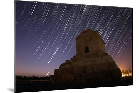 Time-Exposure in Morning Twilight as Venus and the Crescent Moon Rise Above Cyrus the Great's Tomb-Babak Tafreshi-Mounted Photographic Print