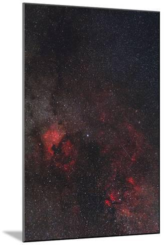 A Meteor Streaks the Sky Against the Milky Way and the Rich Nebula Field in Cygnus-Babak Tafreshi-Mounted Photographic Print