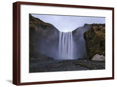 Skogafoss Waterfall, 60 Meters High, on the Skoga River on Cliffs of the Former Coastline-Babak Tafreshi-Framed Art Print