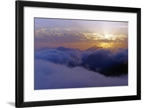 Above the Clouds at 3300 Meters on Mount Damavand, Looking at Sunset over the Alborz Mountains-Babak Tafreshi-Framed Art Print