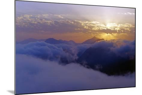 Above the Clouds at 3300 Meters on Mount Damavand, Looking at Sunset over the Alborz Mountains-Babak Tafreshi-Mounted Photographic Print