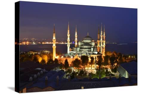 The Blue Mosque, at Dusk-Raul Touzon-Stretched Canvas Print