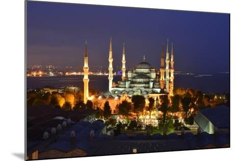 The Blue Mosque, at Dusk-Raul Touzon-Mounted Photographic Print
