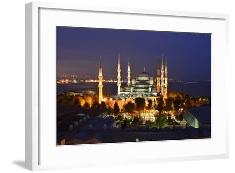 The Blue Mosque, at Dusk-Raul Touzon-Framed Art Print
