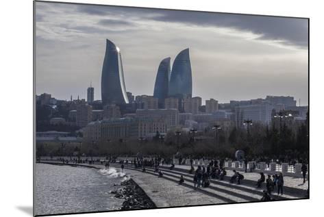 Cityscape of Baku on the Caspian Sea-Will Van Overbeek-Mounted Photographic Print