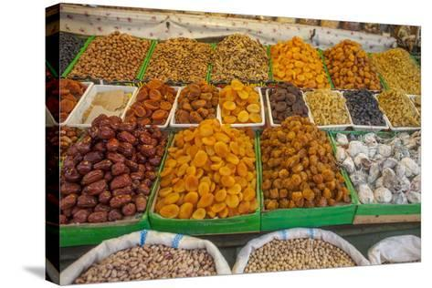 Dried Fruit for Sale in a Baku Bazaar-Will Van Overbeek-Stretched Canvas Print
