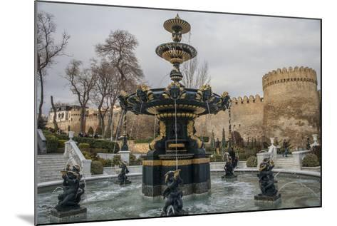 A Fountain Flows in Baku's Old City-Will Van Overbeek-Mounted Photographic Print