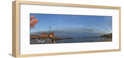 The Annual Lumina Light Festival at Cascais. Large Kites Lit by Leds are Flown in the Art Festival-Babak Tafreshi-Framed Art Print