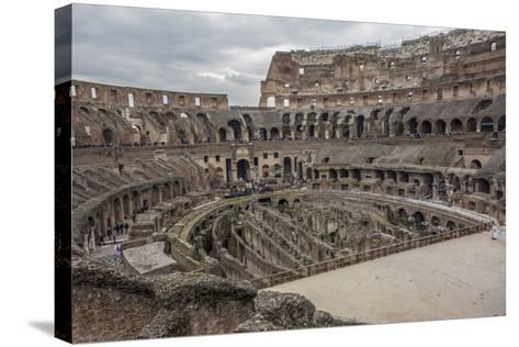 Overlook of the Interior of the Colosseum-Will Van Overbeek-Stretched Canvas Print