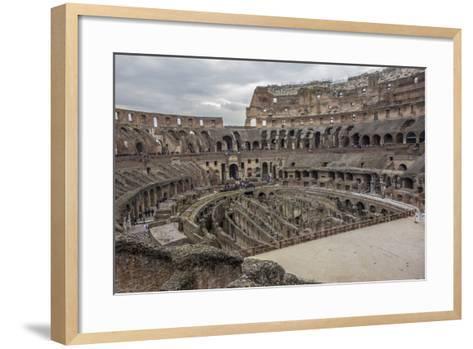 Overlook of the Interior of the Colosseum-Will Van Overbeek-Framed Art Print
