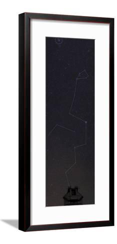 Hydra, the Largest Constellation, and the Beehive Star Cluster Above an Observatory-Babak Tafreshi-Framed Art Print