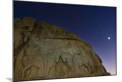 Night Sky over the Relief of an Ancient Persian King Ardashir I, Near Persepolis-Babak Tafreshi-Mounted Photographic Print