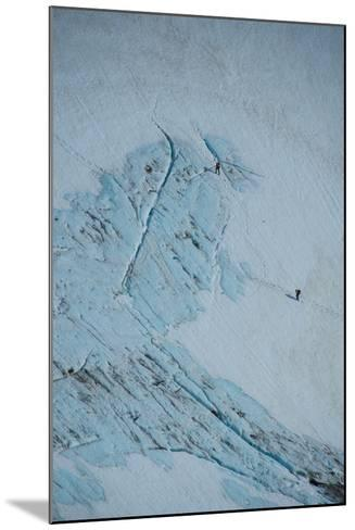 An Aerial View of Hikers in a Vast Patagonia Landscape of Snow and Ice--Mounted Photographic Print