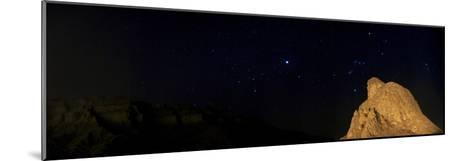 Sirius, and Orion and Taurus Above Oghab Kooh, a Mountain Resembling a Sitting Eagle-Babak Tafreshi-Mounted Photographic Print