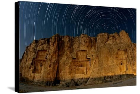 The Night Sky Above the 2500-Year Old Tombs of Ancient Persian Kings of the Achaemenid Empire-Babak Tafreshi-Stretched Canvas Print
