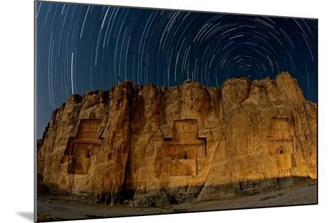 The Night Sky Above the 2500-Year Old Tombs of Ancient Persian Kings of the Achaemenid Empire-Babak Tafreshi-Mounted Photographic Print