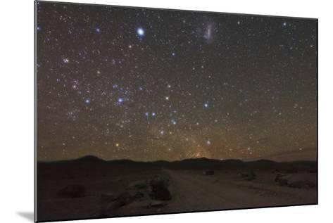 The Large Magellanic Cloud and Bright Star Canopus in the Southern Sky over the Atacama Desert-Babak Tafreshi-Mounted Photographic Print