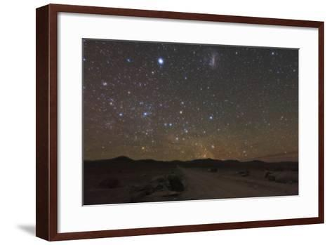 The Large Magellanic Cloud and Bright Star Canopus in the Southern Sky over the Atacama Desert-Babak Tafreshi-Framed Art Print