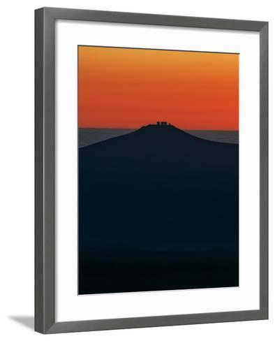 View of the Cerro Paranal Observatory's Silhouette Against the Sunset-Babak Tafreshi-Framed Art Print