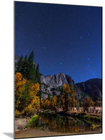 A Moonlit Autumn Night with Polaris, and Constellations Ursa Major and Ursa Minor over Aspen Trees-Babak Tafreshi-Mounted Photographic Print