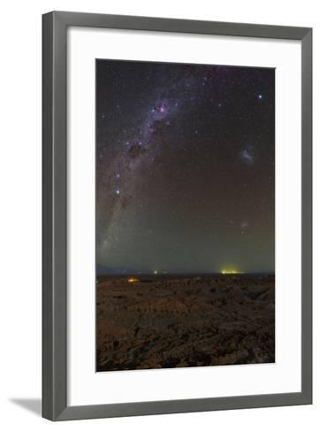 The Southern Milky Way Above Moonlit Landscape Valle De La Luna-Babak Tafreshi-Framed Art Print