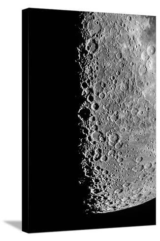 The Moon Seen Through a Telescope with Numerous Craters Along the Lunar Terminator-Babak Tafreshi-Stretched Canvas Print