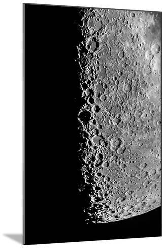 The Moon Seen Through a Telescope with Numerous Craters Along the Lunar Terminator-Babak Tafreshi-Mounted Photographic Print