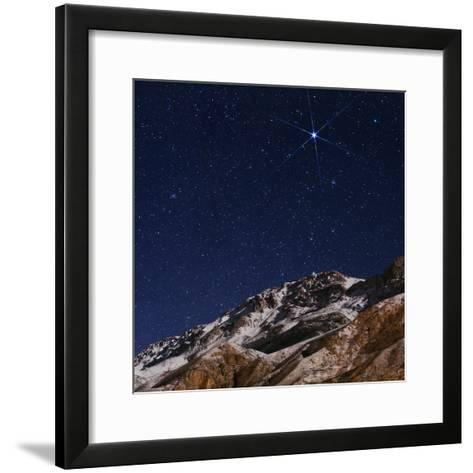 Sirius and the Constellation Canis Major Above the Alborz Mountains on a Winter Night-Babak Tafreshi-Framed Art Print