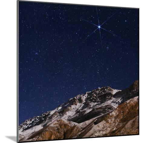 Sirius and the Constellation Canis Major Above the Alborz Mountains on a Winter Night-Babak Tafreshi-Mounted Photographic Print