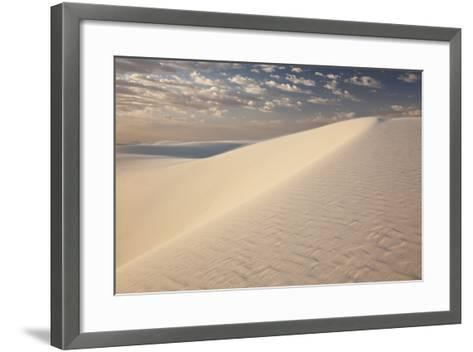 View of White Sand Dune at Sunrise in White Sands National Monument-Derek Von Briesen-Framed Art Print