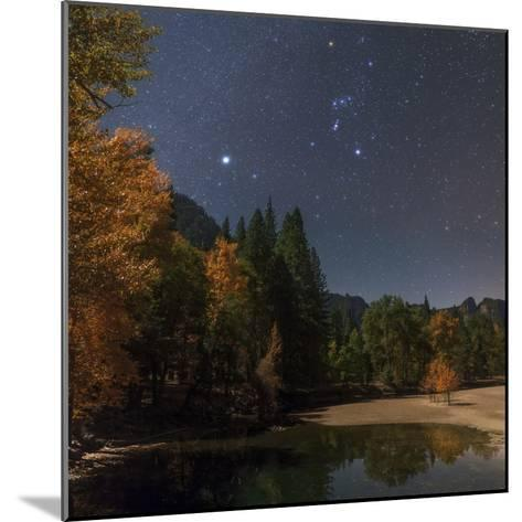 Bright Star Sirius and Constellation Orion over the Merced River in Moonlight-Babak Tafreshi-Mounted Photographic Print