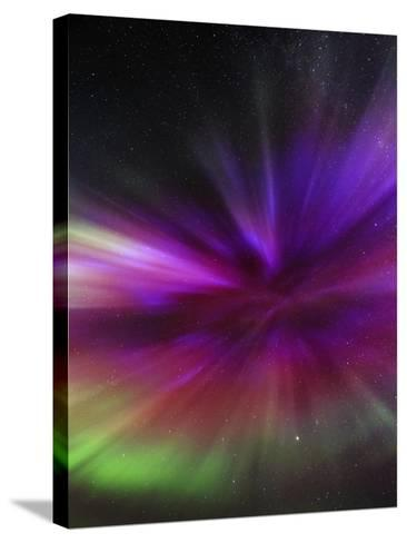 Aurora Borealis, the Northern Lights, in All Colors Forms a Spectacular Crown, Aurora Corona-Babak Tafreshi-Stretched Canvas Print