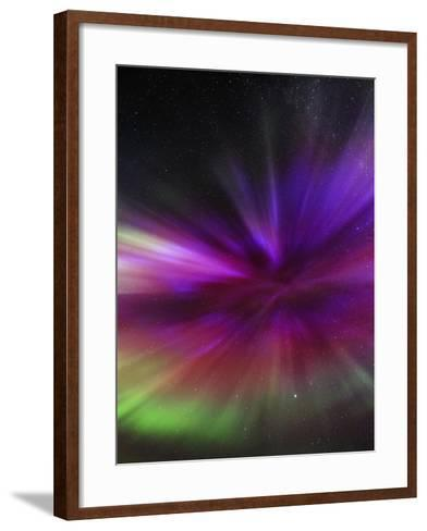 Aurora Borealis, the Northern Lights, in All Colors Forms a Spectacular Crown, Aurora Corona-Babak Tafreshi-Framed Art Print