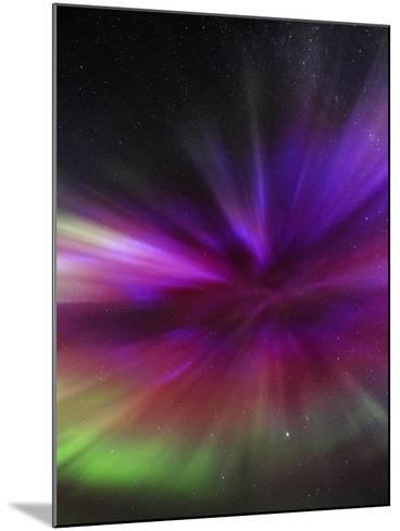 Aurora Borealis, the Northern Lights, in All Colors Forms a Spectacular Crown, Aurora Corona-Babak Tafreshi-Mounted Photographic Print