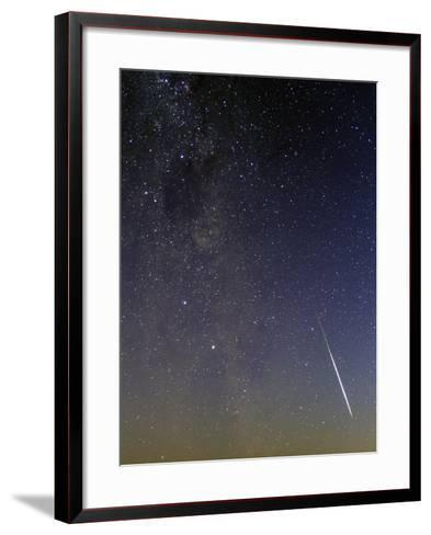 A Bright Meteor, the Southern Cross, the Coalsack Nebula, and the Milky Way at Dusk-Babak Tafreshi-Framed Art Print