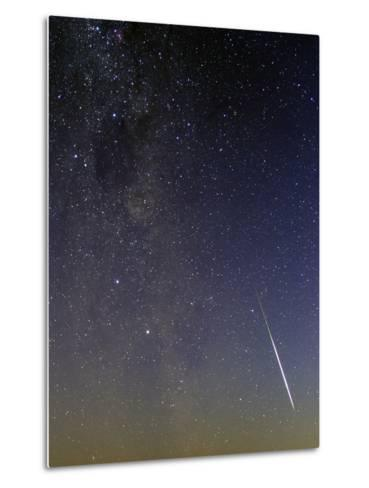 A Bright Meteor, the Southern Cross, the Coalsack Nebula, and the Milky Way at Dusk-Babak Tafreshi-Metal Print