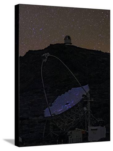 The Night Sky Reflected in the Multi-Mirrored Surface of a Telescope-Babak Tafreshi-Stretched Canvas Print