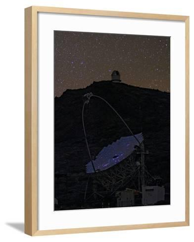The Night Sky Reflected in the Multi-Mirrored Surface of a Telescope-Babak Tafreshi-Framed Art Print