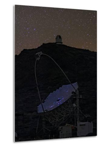 The Night Sky Reflected in the Multi-Mirrored Surface of a Telescope-Babak Tafreshi-Metal Print