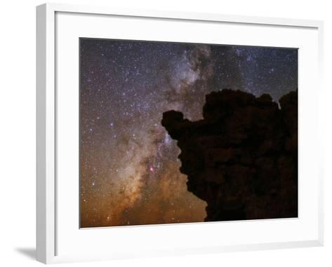 The Milky Way in the Constellations Sagittarius in the Night Sky-Babak Tafreshi-Framed Art Print