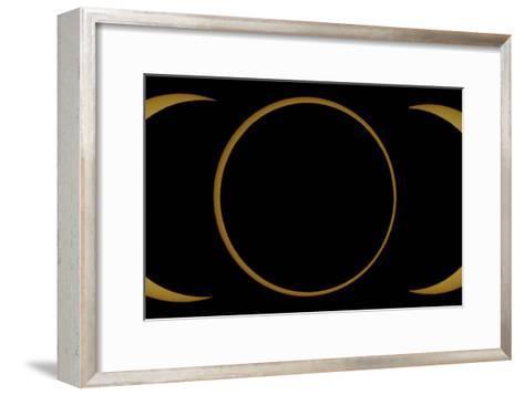 A Composite Image of an Annular Solar Eclipse-Babak Tafreshi-Framed Art Print