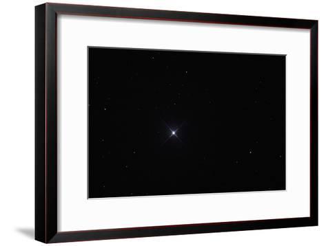 Telescopic View of the North Star or Polaris in Constellation Ursa Minor-Babak Tafreshi-Framed Art Print