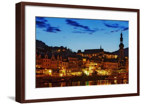 The Town of Cochem Sits on the Bank of the Moselle River-Babak Tafreshi-Framed Art Print