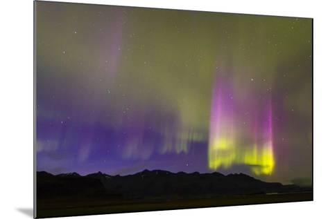 A Northern Lights Display with Strong Light Pillars During a Geomagnetic Solar Storm-Mike Theiss-Mounted Photographic Print