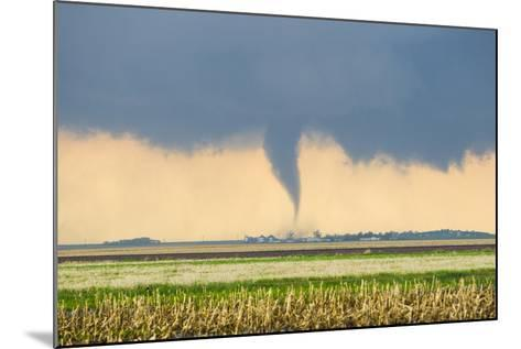 A Stove Pipe Tornado Touches Down over a Farmstead and Causes Lots of Damage and Destruction-Mike Theiss-Mounted Photographic Print