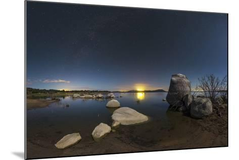 In a Moonlit Night the Milky Way Appears Above Lake Alqueva, Portugal-Babak Tafreshi-Mounted Photographic Print